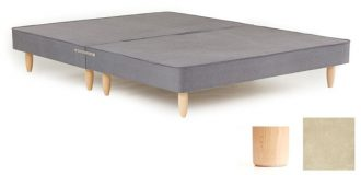 "8'0"" X 6'6"" - Shallow Base & Matching Headboard, Suede Beige-0"