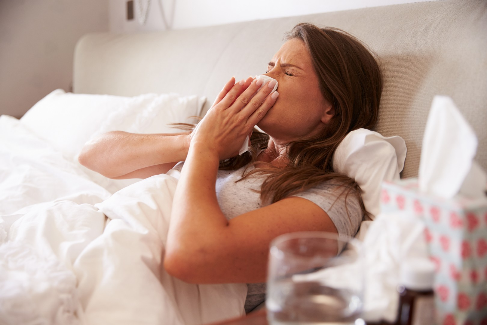 how to get to sleep with a cold